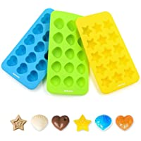 Ankway Silicone Chocolate Molds Candy Molds Ice Cube Trays Mini Ice Maker Molds