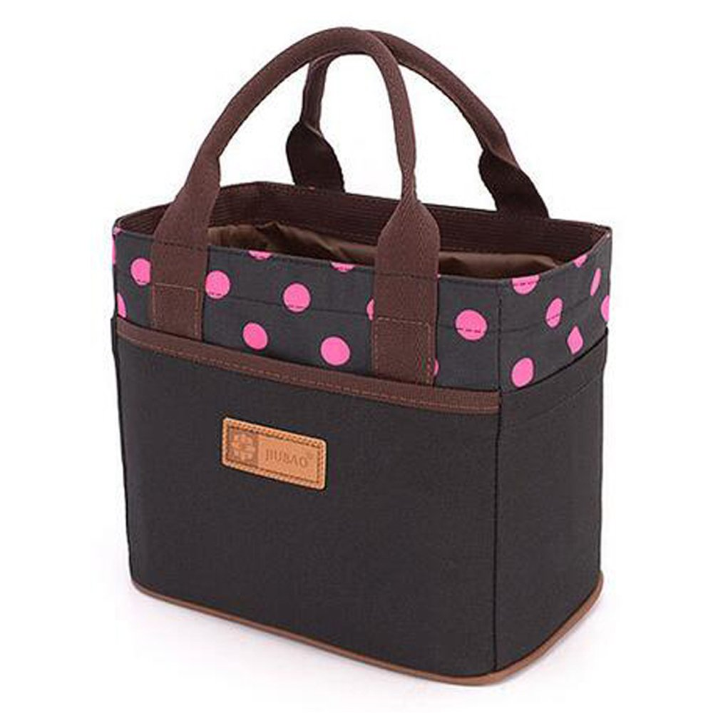 canvas bento lunch bag box picnic travel tote lunch bag women adults food new us ebay. Black Bedroom Furniture Sets. Home Design Ideas