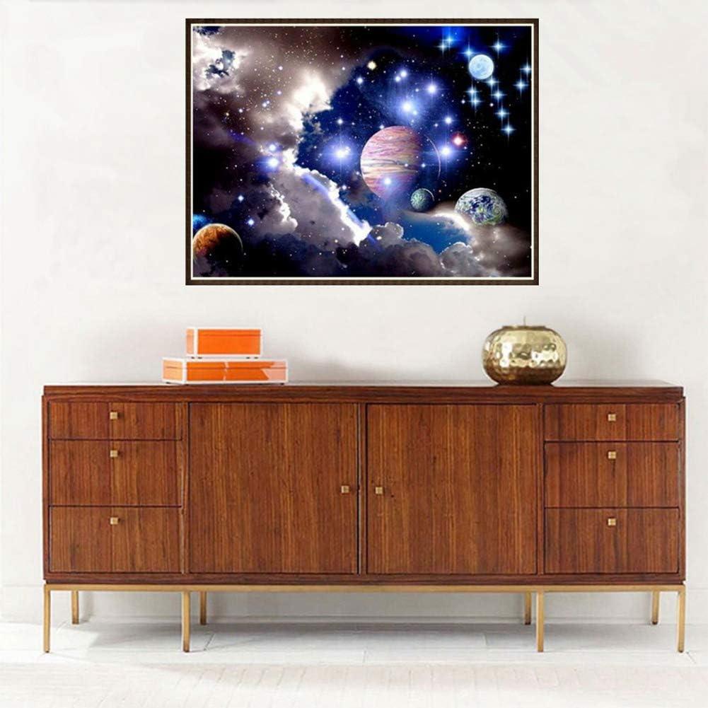 Diy diamante pintura cielo estrellado 5D taladro completo kit de bordado de cristal para el hogar sala de estar decoraci/ón de la pared