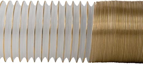 2 1//2 x 50/' CLEAR PVC DUST COLLECTION HOSE BY PEACHTREE WOODWORKING PW369
