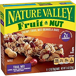 Nature Valley Chewy Trail Mix Granola Bar Fruit and Nut, 12 Bars, 7.4 oz (Pack of 12)