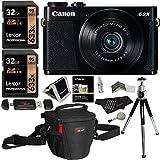 Canon PowerShot G9 X Digital Camera 20.2 MP Sensor & Wi-Fi (Black) + Lexar 32GB 2 Pack + Ritz Gear Case + Card Reader + Polaroid 8