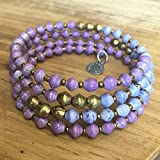 Paper Bead East African Infinity Wrap Bracelet - Purple - Fair Trade BeadforLife Jewelry