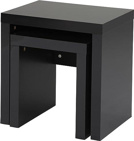 Tesco maine high gloss nest of 2 tables black a amazon tesco maine high gloss nest of 2 tables black a watchthetrailerfo