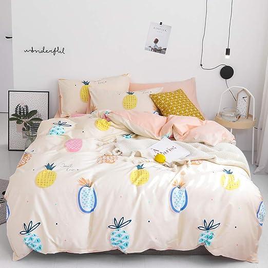 Amazon Com Pineapple Teens Twin Bedding Comforter Cover Pink