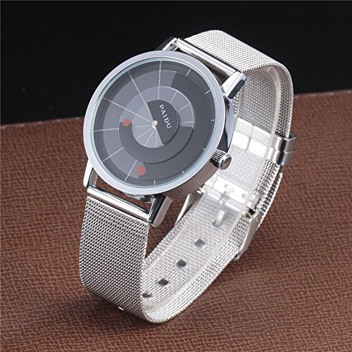 Amazon.com: Unique Rotary Dial Fashion Steel Quartz Wrist Watch Women Men Unisex Relojes: Watches