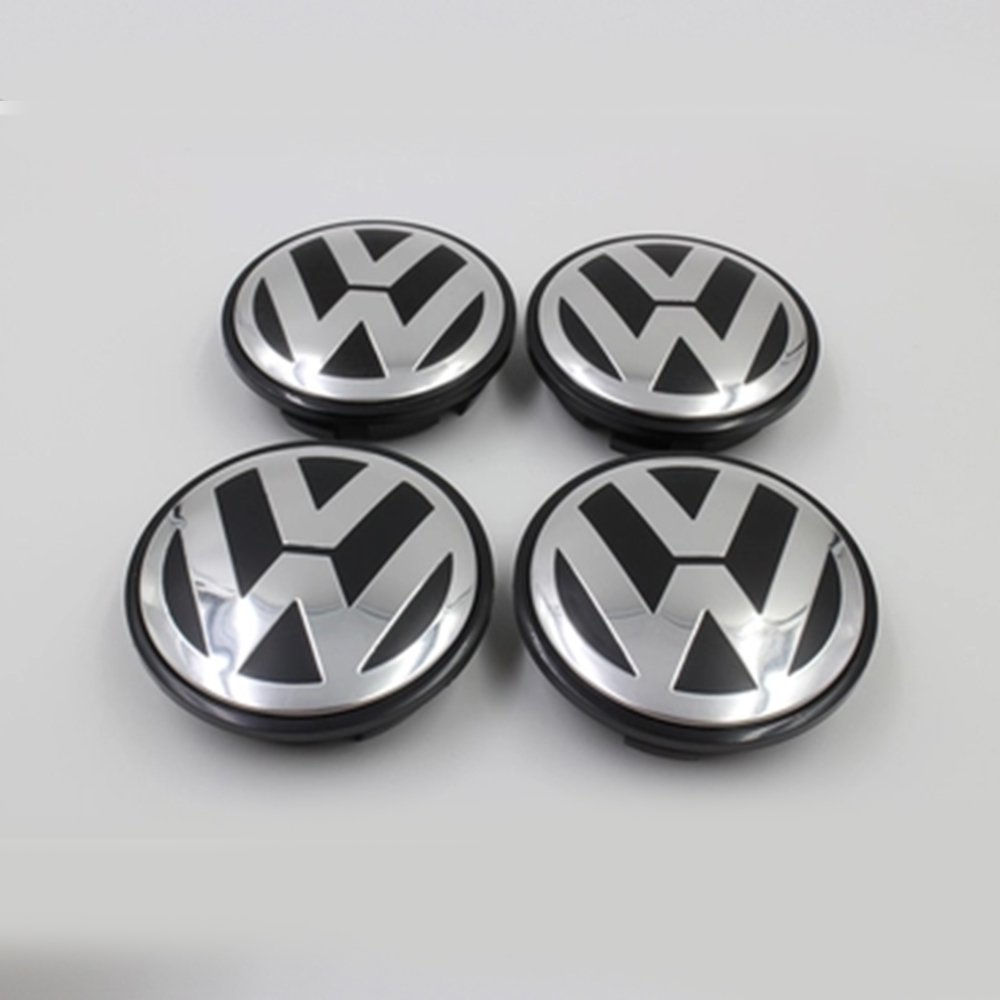 Hanway 4pcs/set VW Caddy, EOS, Golf, Jetta, Passat CC, Phaeton, Scirocco, Sharan, Tiguan, Touran, Transporter 65 mm Rueda Centro Tapacubos Tapas Fundas para ...