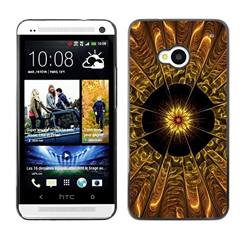 Soft Silicone Rubber Case Hard Cover Protective Accessory Compatible with HTC ONE M7 2013 - Abstract Flower