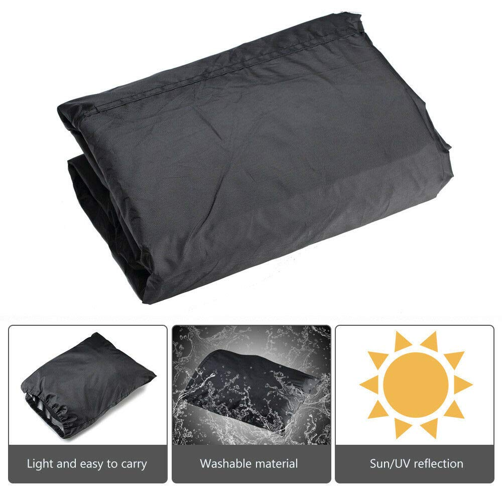 Elastic Bottom Trailerable At High Speeds KEMIMOTO Large Size Universal Fits up to 100 Inch Most Quads Waterproof ATV Cover Heavy Duty Meterial Protects 4 Wheeler From Snow Rain or Sun