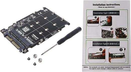 Aawsome 2 en 1 M.2 NVMe SATA-Bus NGFF SSD a PCI-e U.2 SFF-8639 ...