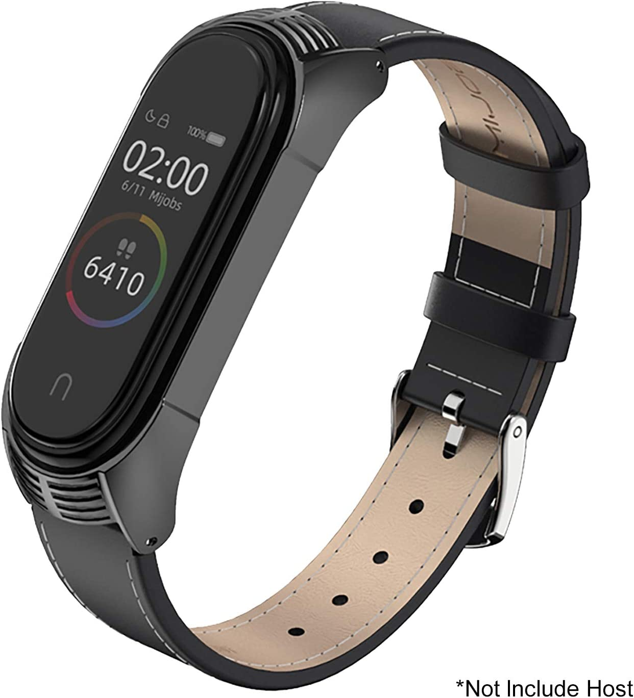 SenMore Compatible Correa Xiaomi Mi Band 4 3 Correas Cuero, Pulsera de Leather Agradable para Mi Band 4 Correa y Mi Band 3 Correa (No Host)