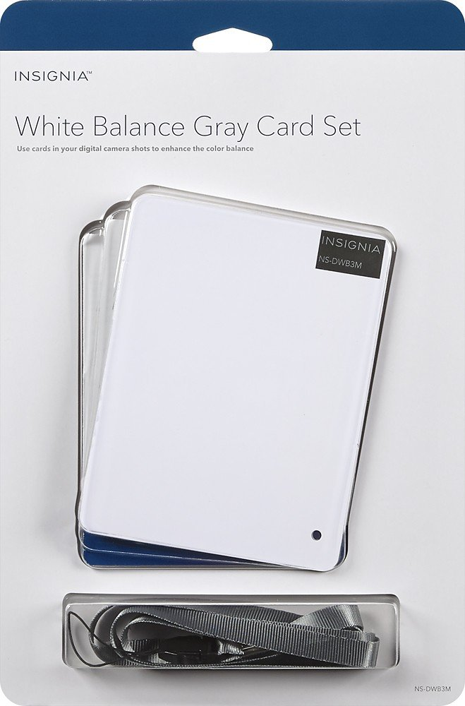 Insignia - White Balance Gray Card Kit (3-Count) - White/Gray/Black by Insignia (Image #2)