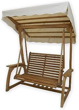 Edle Balancín de 2 plazas maciza madera de teca: Amazon.es: Jardín