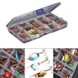 WALLER PAA Lot 30pcs Colorful Trout Spoon Metal Fishing Lures Spinner Baits Bass Tackle New