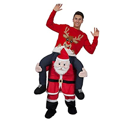 emmarry costumes christmas funny pants piggyback ride on riding animal shoulder adult costume one size