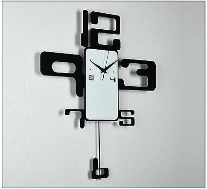 Reloj de pared elegante y silencioso.Moderno minimalista creativo reloj de pared digital grande personalizado