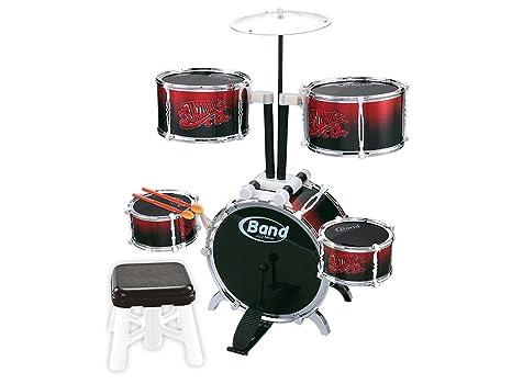Teorema batteria musicale giocattolo con accessori e sgabello