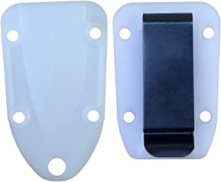 product image for ESEE Knives Molded Sheath and Belt Clip Plate (White/Clear) for Candiru Knife