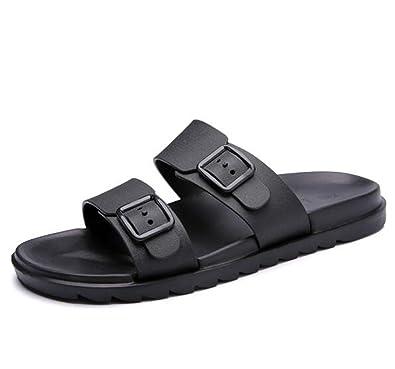 6fbffa4e9445c Amazon.com | Summer Slippers Men Shoes Casual Flip Flops Outside Fashion  Buckle Slipper Beach Male Soft | Slippers