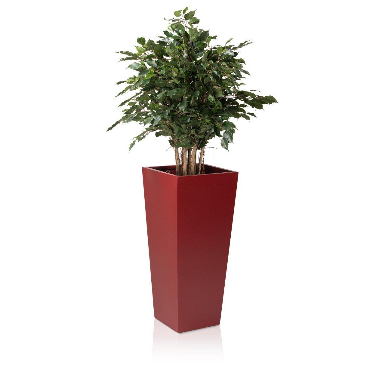 pflanzk bel blumenk bel cono plaza fiberglas rot matt hoher premium pflanztopf jetzt kaufen. Black Bedroom Furniture Sets. Home Design Ideas