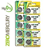 2032 Battery CR2032 3V Lithium Coin Cell Battery Type : CR2032 / DL2032 / ECR2032 Genuine KEYKO ® Supreme High Energy™ - 10 pcs Pack