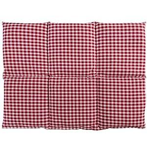 Cojín de semillas de lino | 40x30 rojo-blanco | Cojín de calor | Para microondas y horno