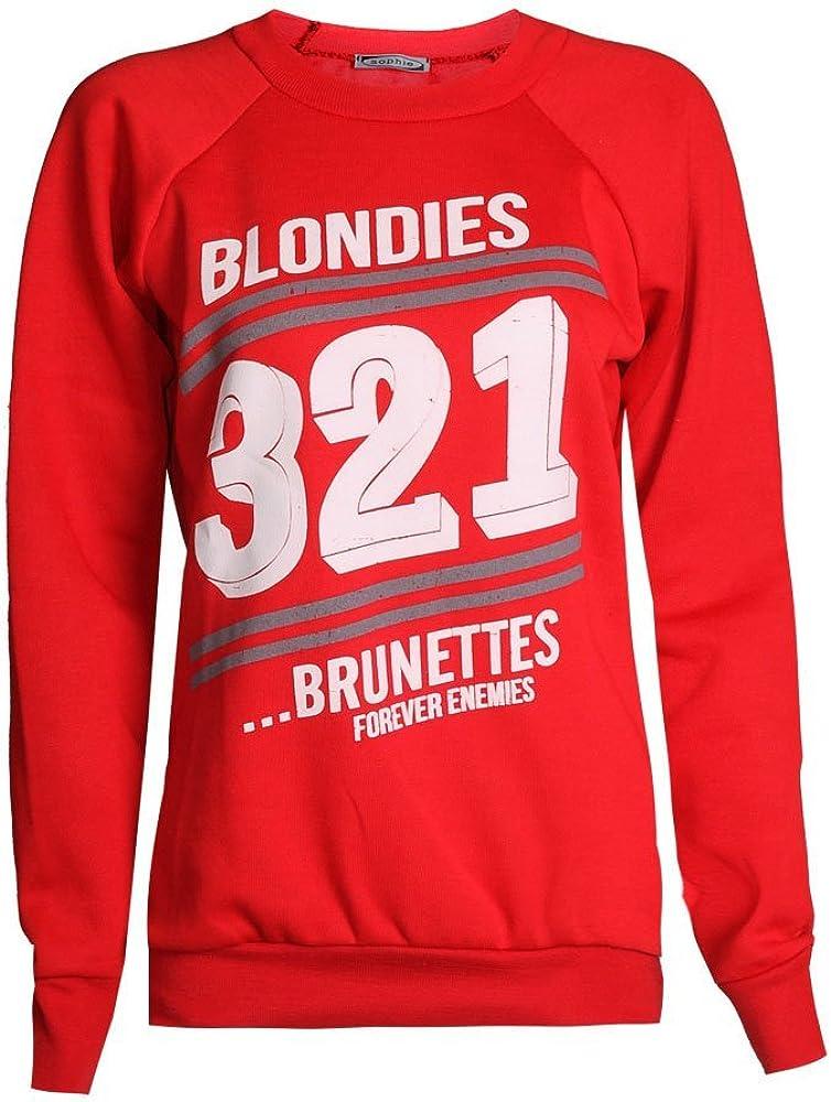 Fast Fashion Femmes Sweatshirt Haut Brooklyn 76 Los Angeles Et Work Out Imprimer Toison