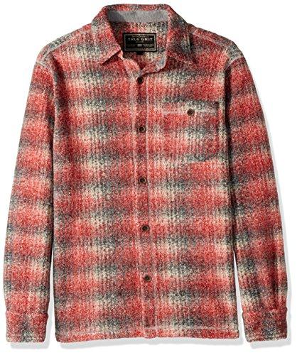 True Grit Mens Melange Solid and Plaid Blanket One Pocket Big Shirt