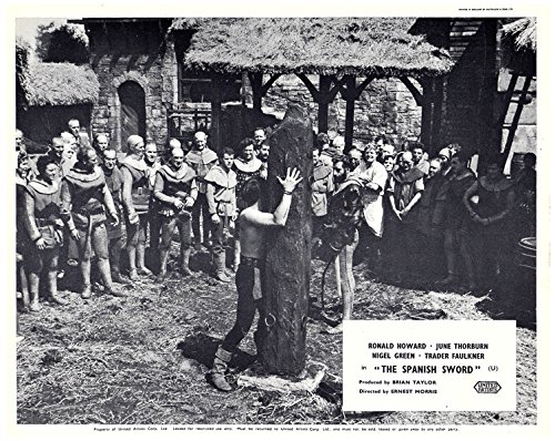 THE SPANISH SWORD ORIGINAL BRITISH LOBBY CARD NIGEL GREEN WHIPPING MAN