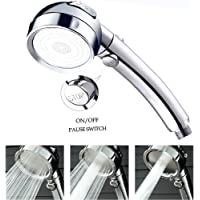 Shower Head Showerheads Handheld Water Saving Higher Pressure 3 Spray Modes Adjustable Replacement Handheld Showers with Pause Control (Shower Head)