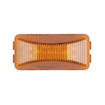 "Maxxima M20320Y Amber 2-1/2"" Rectangular LED Clearance Marker Light: Automotive"
