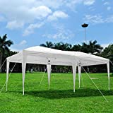 Yescom 20x10Ft White Easy Pop Up Canopy Party Wedding Folding Commercial Instant Shelter w/ Carry Bag