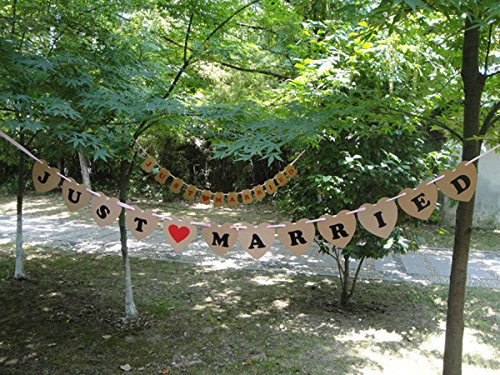 [USA-SALES] Just Married Wedding Banner Garland Wedding Decorations by USA-SALES Seller