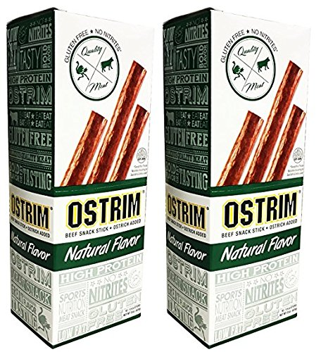 Beef Snack Ostrim Meat Sticks (Ostrim Beef & Ostrich Snack Stick Natural Flavor Pack of 20)