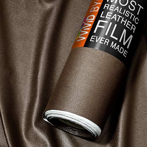 - VViViD Bycast65 Brown Correct-Grain Faux Leather Marine Vinyl Fabric (10ft x 54