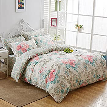 Uozzi Bedding 3 Piece Duvet Cover Set Queen/Full, Reversible Printing with Brushed Microfiber, Lightweight Soft, Comfortable , Durable (Queen)