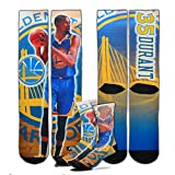Men's Kevin Durant Golden State Warriors NBA For Bare Feet 'Best Of' Center Court 2 Player Socks, Size Large (9-13)
