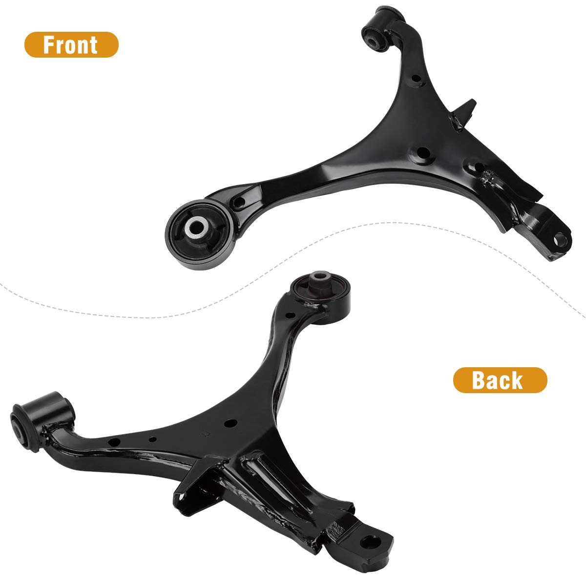 Left /& Right A Pair Pair of Front Lower Control Arm w//Ball Joint Assembly for 2002-2006 Honda CR-V Sport Utility 4-Door