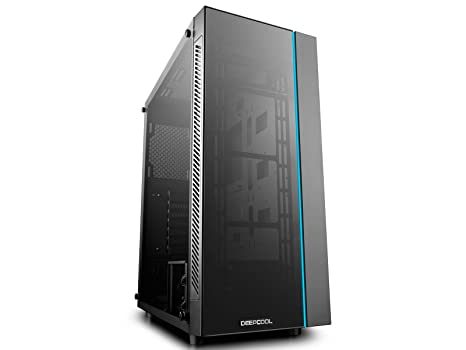 Deepcool MATREXX 55 Mid Tower Computer Case with Dual Tempered Glass and RGB Lighting System Computer Cases at amazon