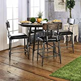 Mullane Round Counter Height Table Gray