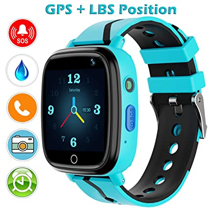 Kids Smart Watch with GPS Tracker,Kids Smartwatch Waterproof,HD Touch Screen Pedometer Fitness Tracker Camera,Watch Wrist Digital Watch Android ...