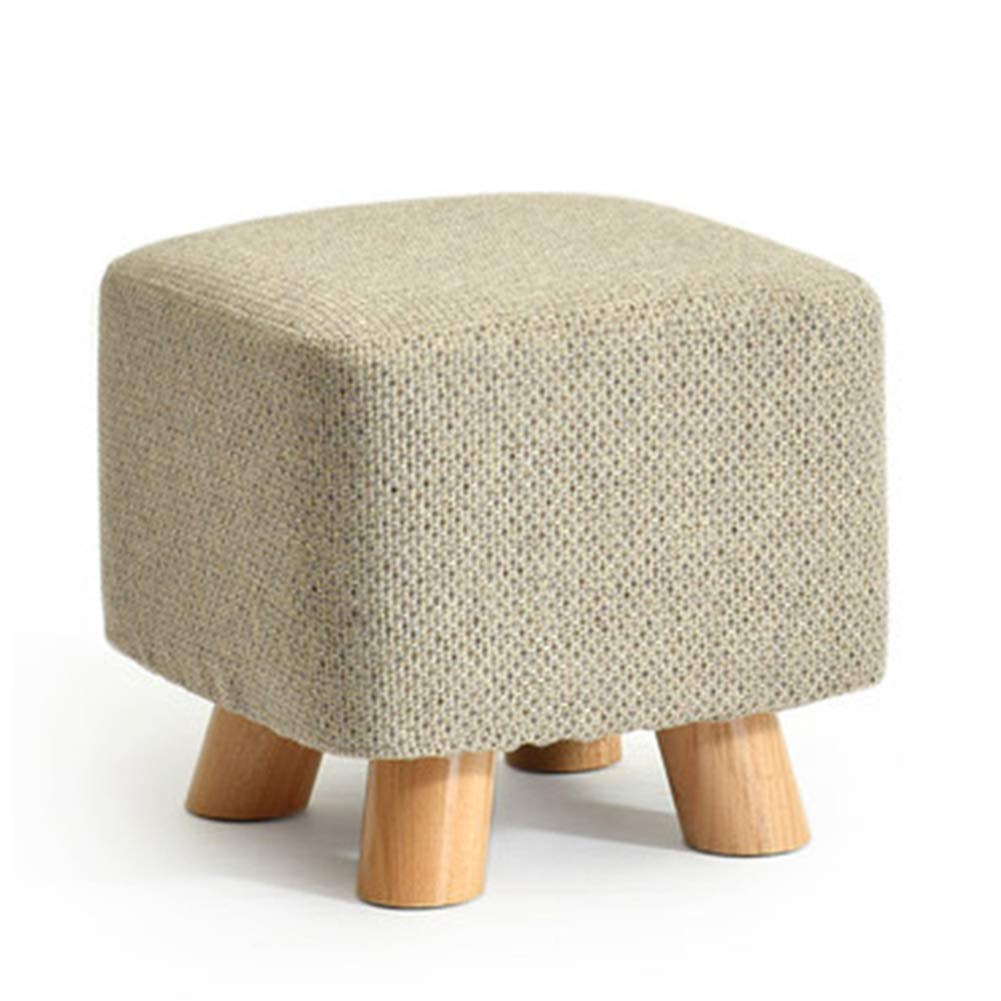 Square A Stool Coffee Table Stool Solid Wood Fabric Stool Footstool Stool Cover Removable Kitchen Bedroom Living Room,Square,D