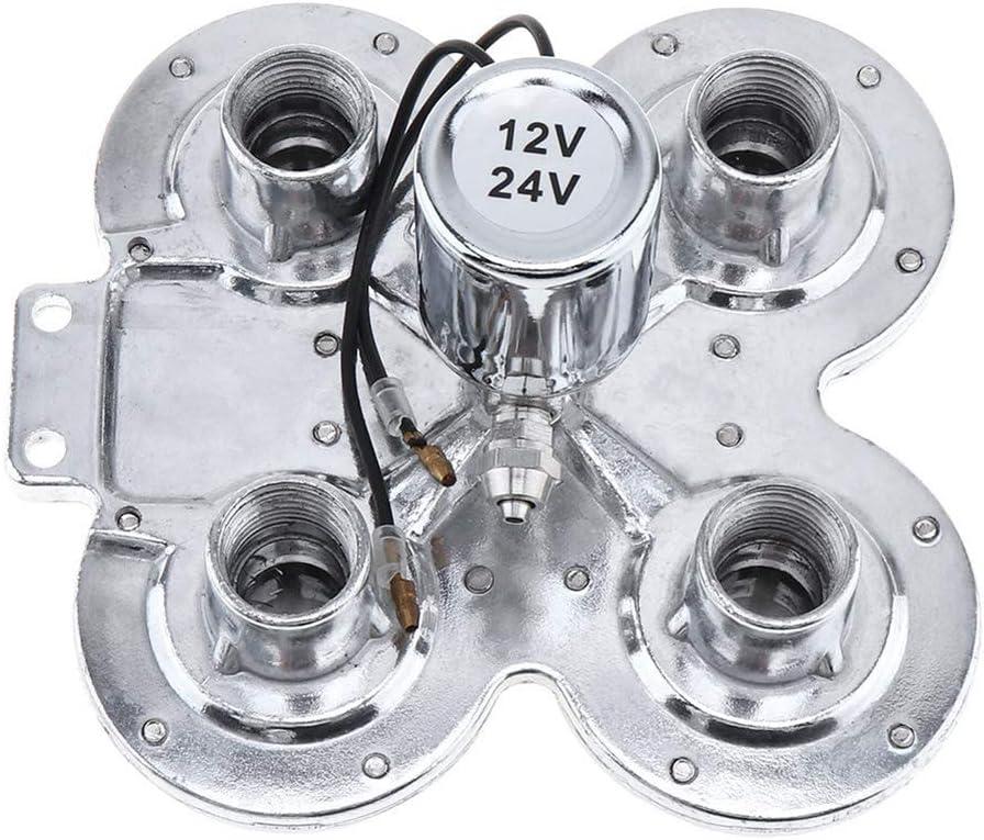 24V 150dB Elektronische Steuerung Super Laute Vier Trompeten Hupe Zinklegierung f/ür Auto Fahrzeug LKW Zug Boot Heylas 12V