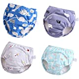 U0U Baby Girls'4 Pack Cotton Training Pants Toddler Potty Training Underwear for Boys and Girls 12M-4T