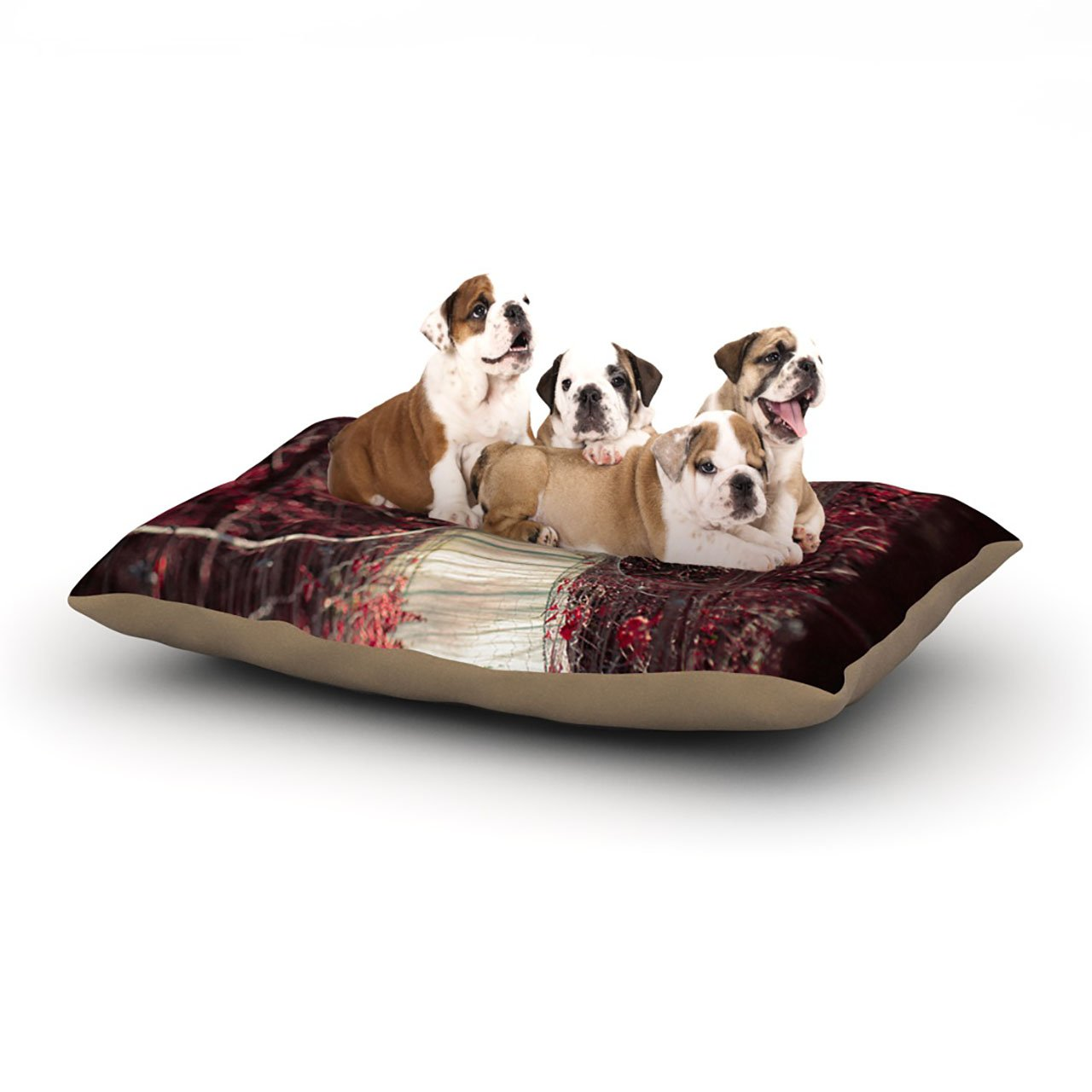 Large 30\ KESS InHouse Allison Beilke Prezzies  Holiday Dog Bed, 30  x 40