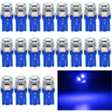 EverBright 20-Pack 194 Led Bulb Blue, T10 168 912 W5W 2825 LED Bulb for Car Interior Lights Dome Map Light Trunk Door…