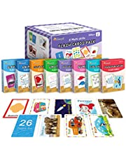 """KMUYSL Sight Words Flash Cards for Preschool, Kindergarten, 1st, 2nd & 3rd Grade - 8 in1 Classroom Supplies & Materials - 208 - 4.6""""x3.2"""" Learning Cards Teach Shapes Numbers Alphabet Colors and More"""