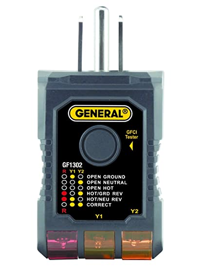 General Tools GF1302 3-Wire Circuit yzer with GFCI Tester on 3 way electrical circuit, 3 way lighting, 3 way injector, 3 way breakers, 3 way outlets, 3 way circuit diagram, 3 way connectors,