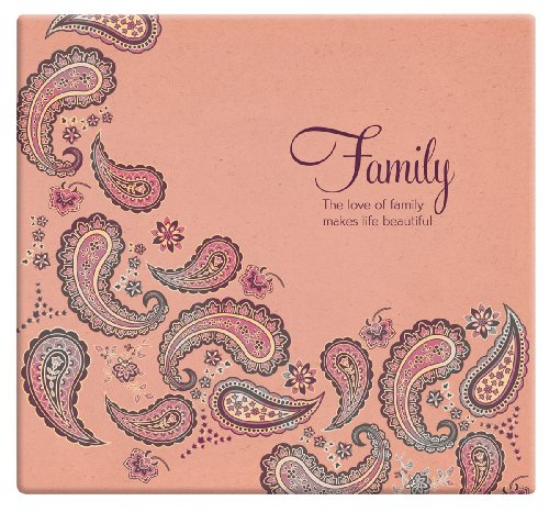 MBI 13.2x12.5 Inch Expressions Post Bound Family Album, Peach Paisley (848124)