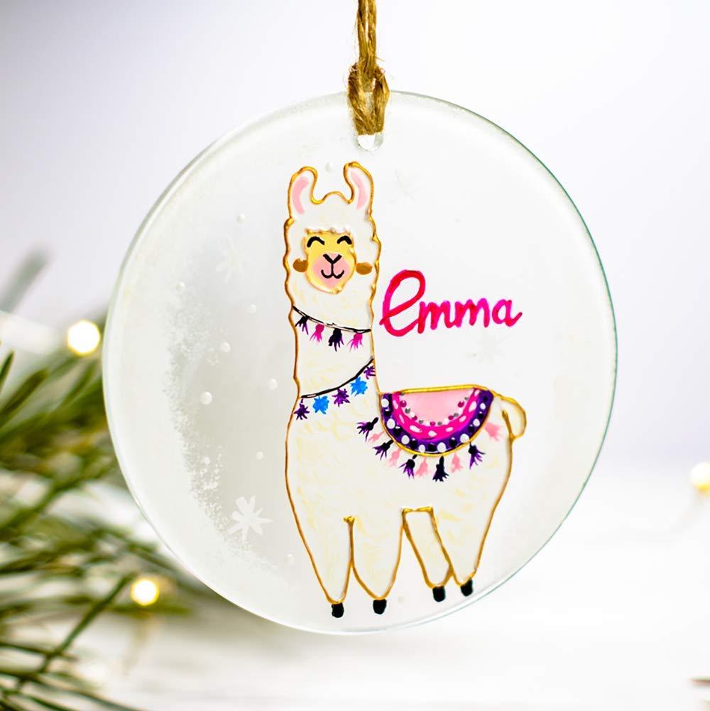 Amazon Com Llama Christmas Ornament Personalized Kids Ornament